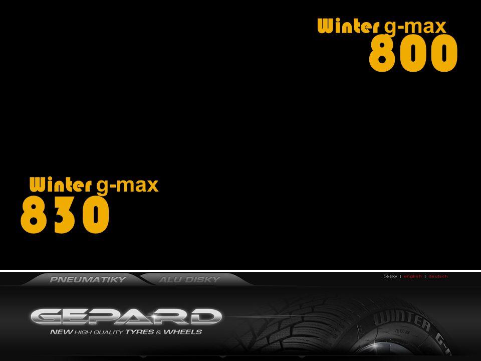 Winter g-max 800 Winter g-max 830 ROZMĚROVÁ ŠKÁLA