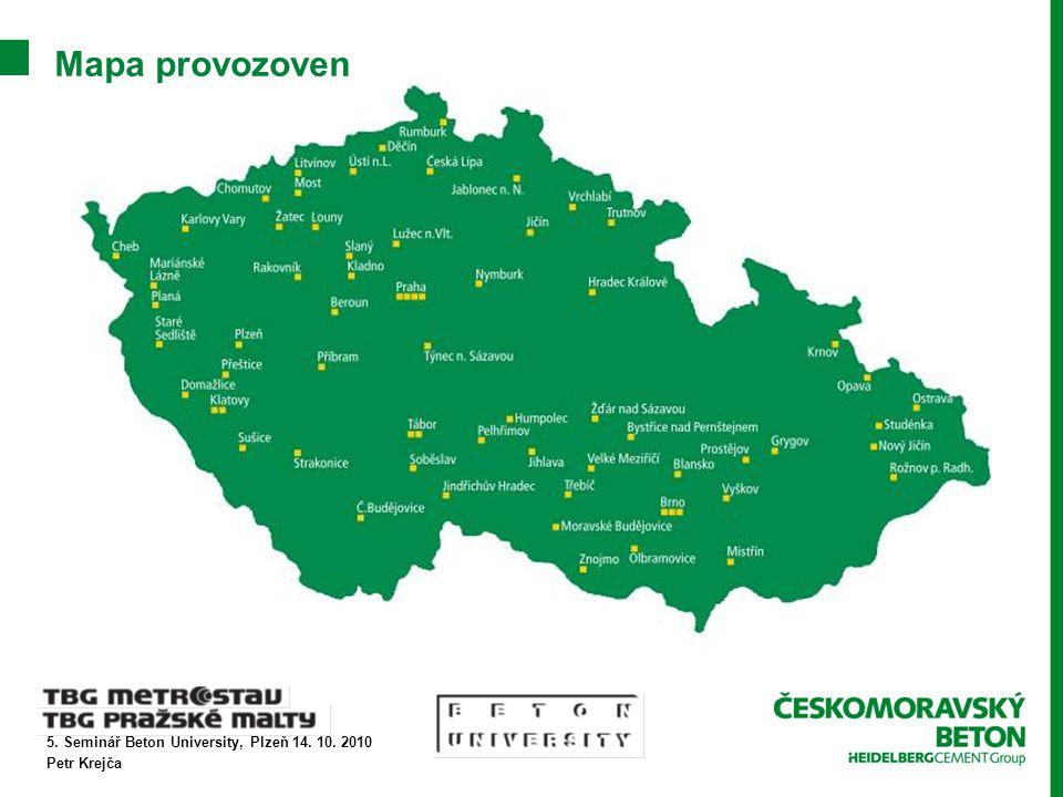 5. Seminář Beton University, Plzeň 14. 10. 2010 Petr Krejča Mapa provozoven