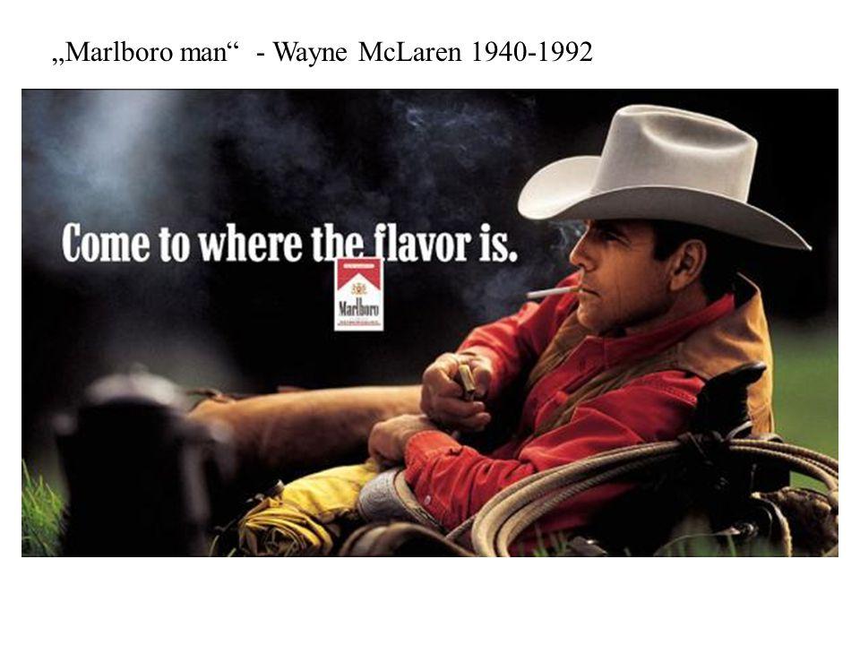 """""""Marlboro man"""" - Wayne McLaren 1940-1992"""