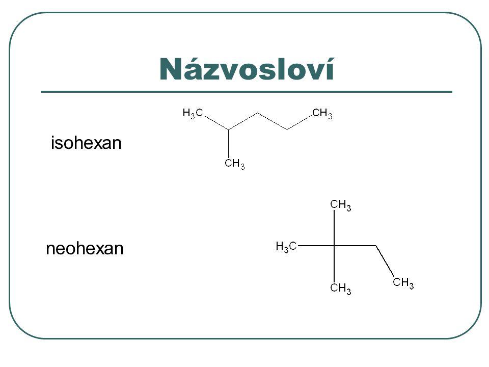 Krakování Tepelné – pyrolýza homolytické štěpení, vysoká teplota a tlak dochází k rekombinaci radikálů CH 3 (CH 2 ) 4 CH 3  CH 2 =CH-CH 3 + CH 3 -CH 2 -CH 3 Katalytické heterolytické štěpení dá se ovlivnit složení reakční směsi ·