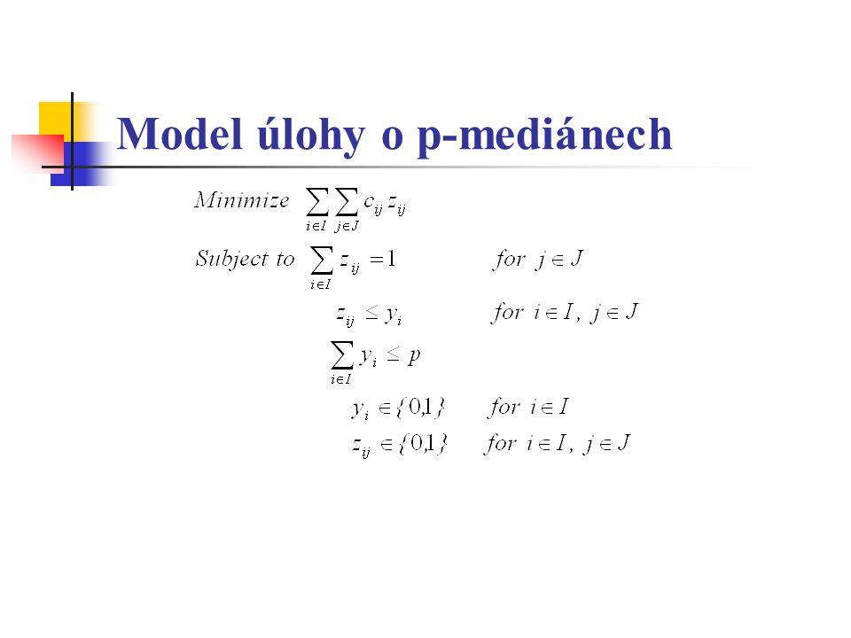Model úlohy o p-mediánech