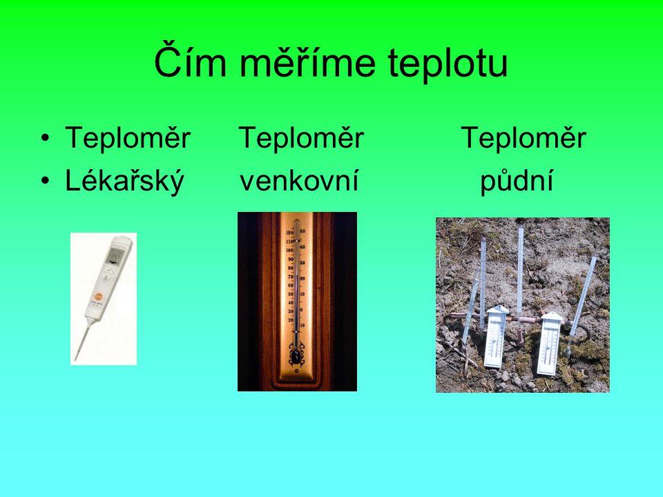 Čím měříme teplotu Teploměr Teploměr Teploměr Lékařský venkovní půdní