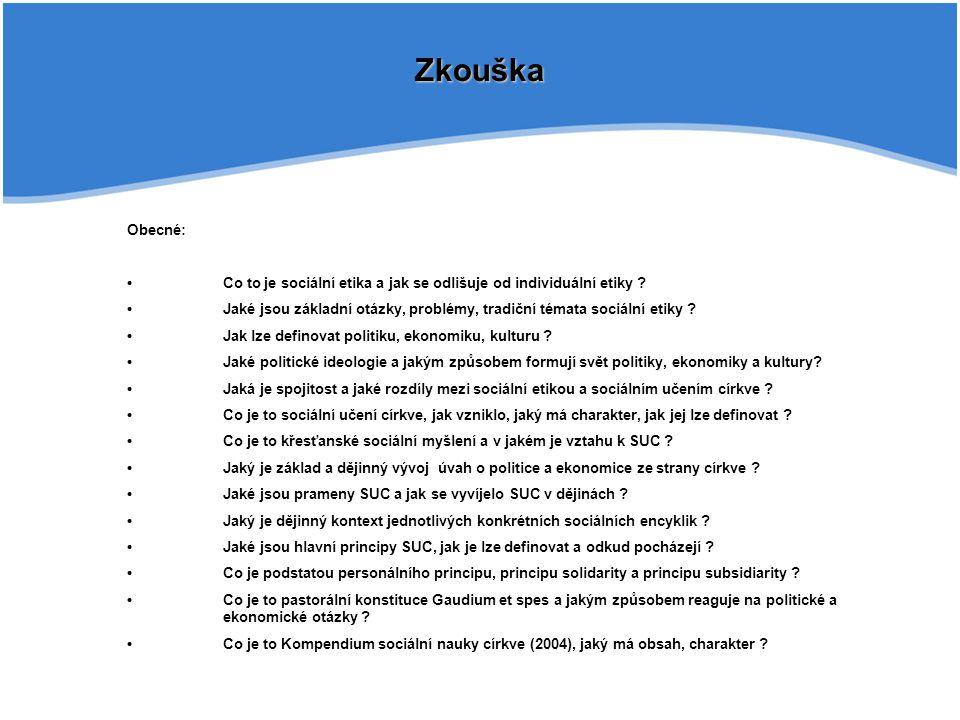 Zkouška Obecné: Co to je sociální etika a jak se odlišuje od individuální etiky ? Jaké jsou základní otázky, problémy, tradiční témata sociální etiky