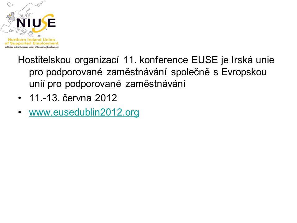 Hostitelskou organizací 11. konference EUSE je Irská unie pro podporované zaměstnávání společně s Evropskou unií pro podporované zaměstnávání 11.-13.