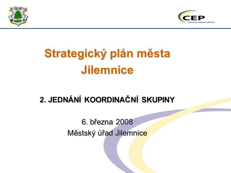 Strategický plán města Jilemnice 2. JEDNÁNÍ KOORDINAČNÍ SKUPINY 6. března 2008 Městský úřad Jilemnice