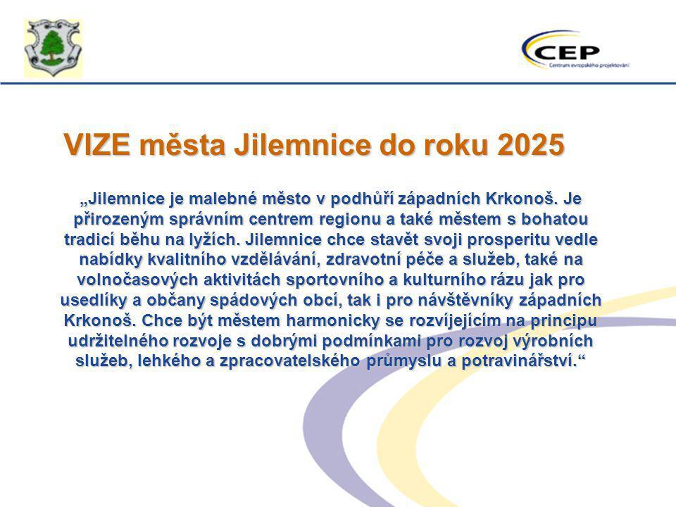 """VIZE města Jilemnice do roku 2025 """"Jilemnice je malebné město v podhůří západních Krkonoš. Je přirozeným správním centrem regionu a také městem s boha"""