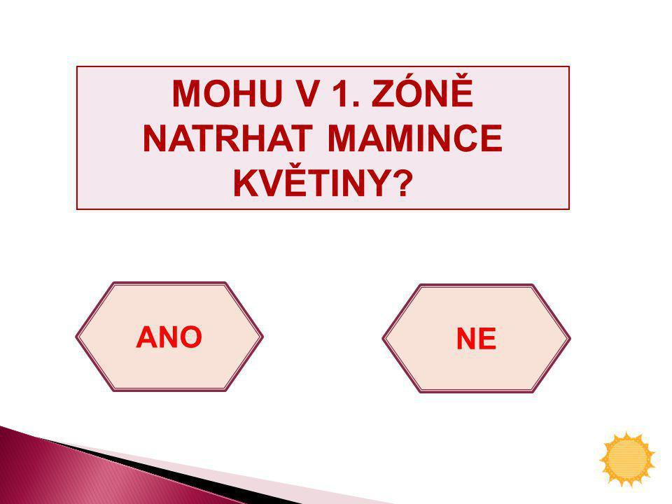 MOHU V 1. ZÓNĚ NATRHAT MAMINCE KVĚTINY? ANO NE
