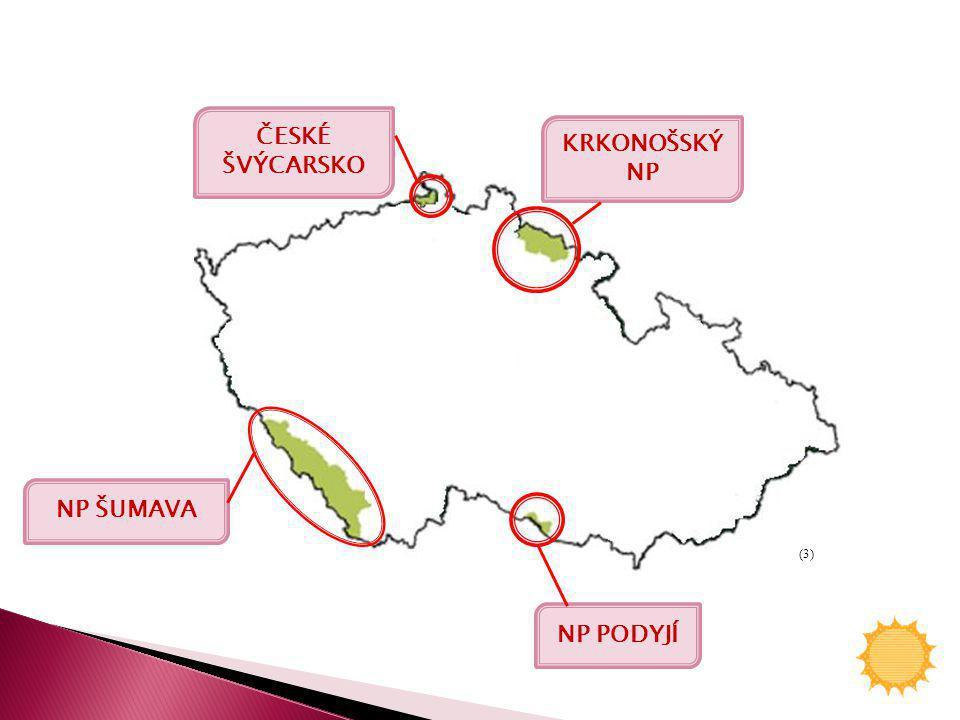 ČESKÉ ŠVÝCARSKO NP ŠUMAVA NP PODYJÍ KRKONOŠSKÝ NP (3)
