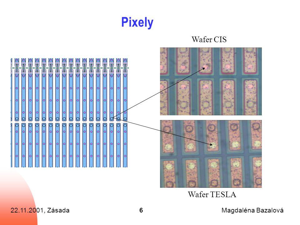 22.11.2001, ZásadaMagdaléna Bazalová6 Pixely Wafer CIS Wafer TESLA