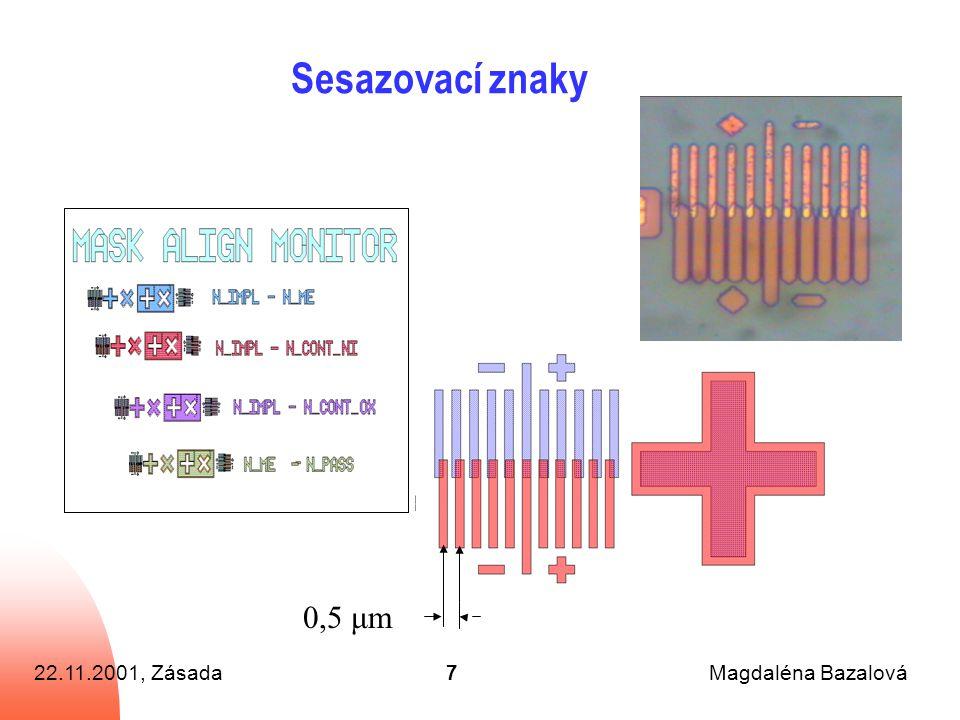 22.11.2001, ZásadaMagdaléna Bazalová7 Sesazovací znaky 0,5 μm