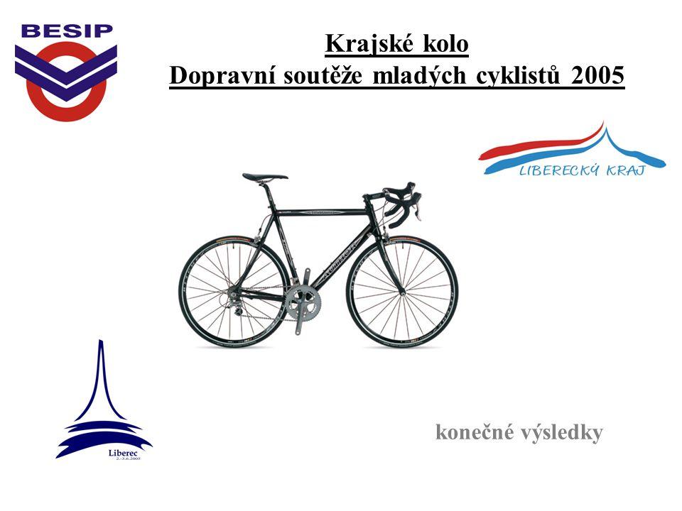 Krajské kolo Dopravní soutěže mladých cyklistů 2005 konečné výsledky