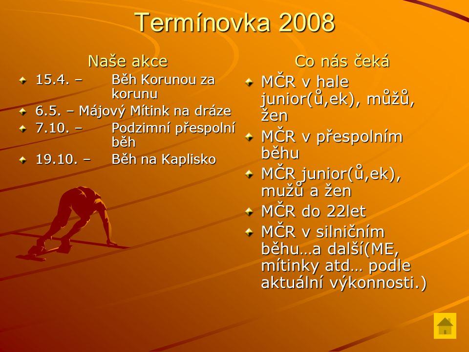 Termínovka 2008 Naše akce 15.4.– Běh Korunou za korunu 6.5.