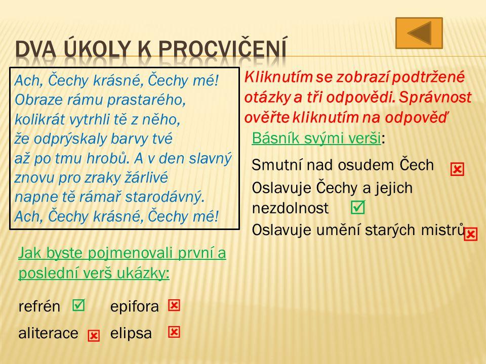 Ach, Čechy krásné, Čechy mé.