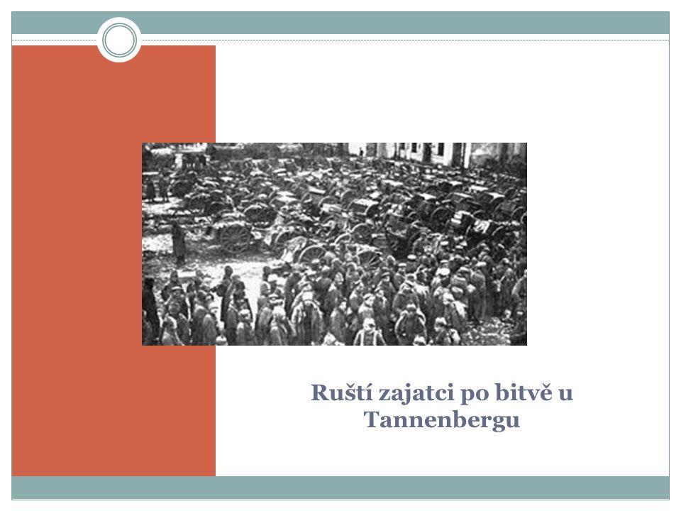 Ruští zajatci po bitvě u Tannenbergu