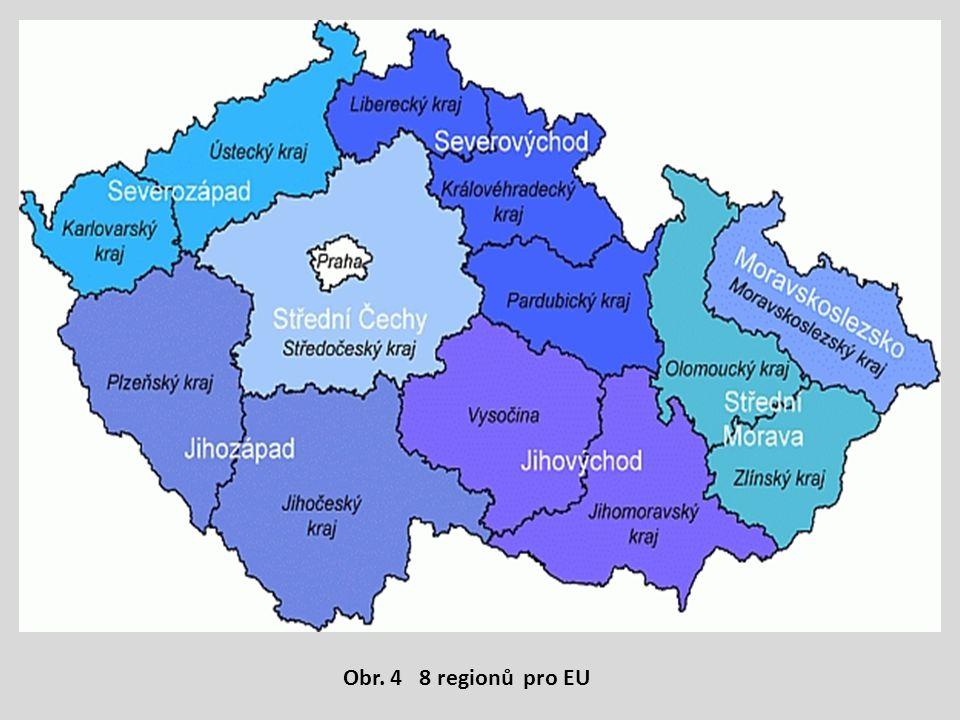 Obr. 4 8 regionů pro EU