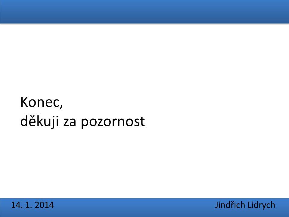 14. 1. 2014 Jindřich Lidrych Konec, děkuji za pozornost