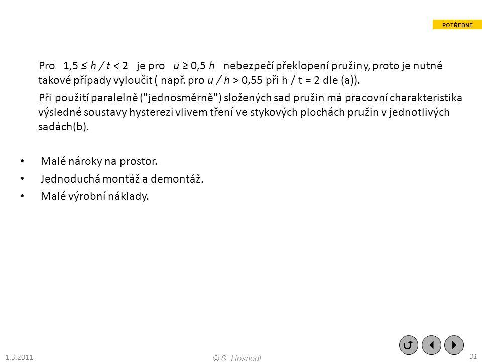 Pro 1,5 ≤ h / t 0,55 při h / t = 2 dle (a)). Při použití paralelně (