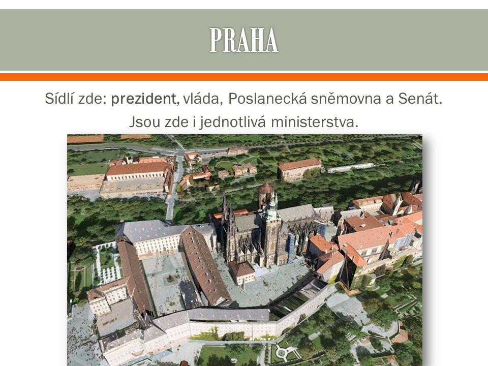Sídlí zde: prezident, vláda, Poslanecká sněmovna a Senát. Jsou zde i jednotlivá ministerstva.