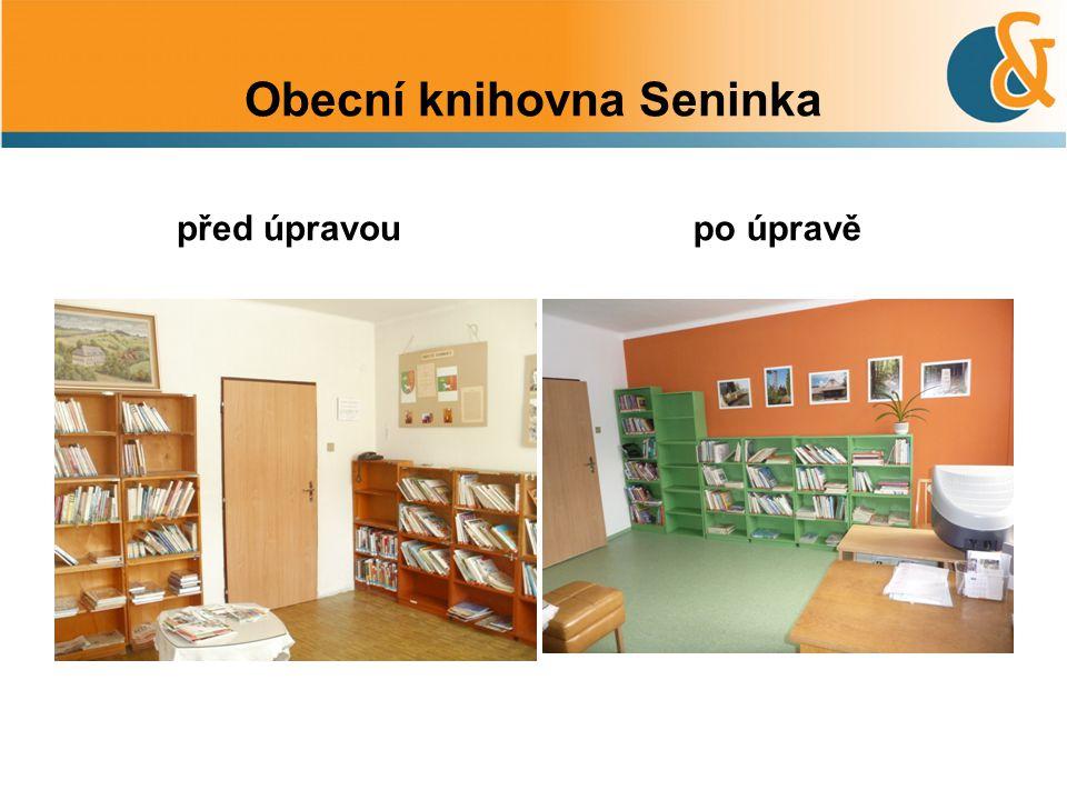 Obecní knihovna Seninka před úpravoupo úpravě