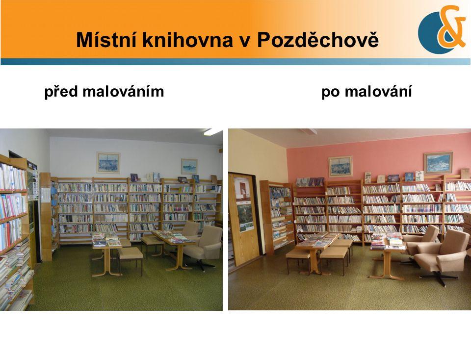 po malovánípřed malováním Místní knihovna v Pozděchově