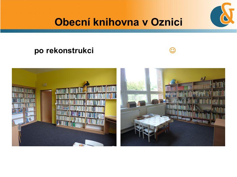 Obecní knihovna v Oznici po rekonstrukci