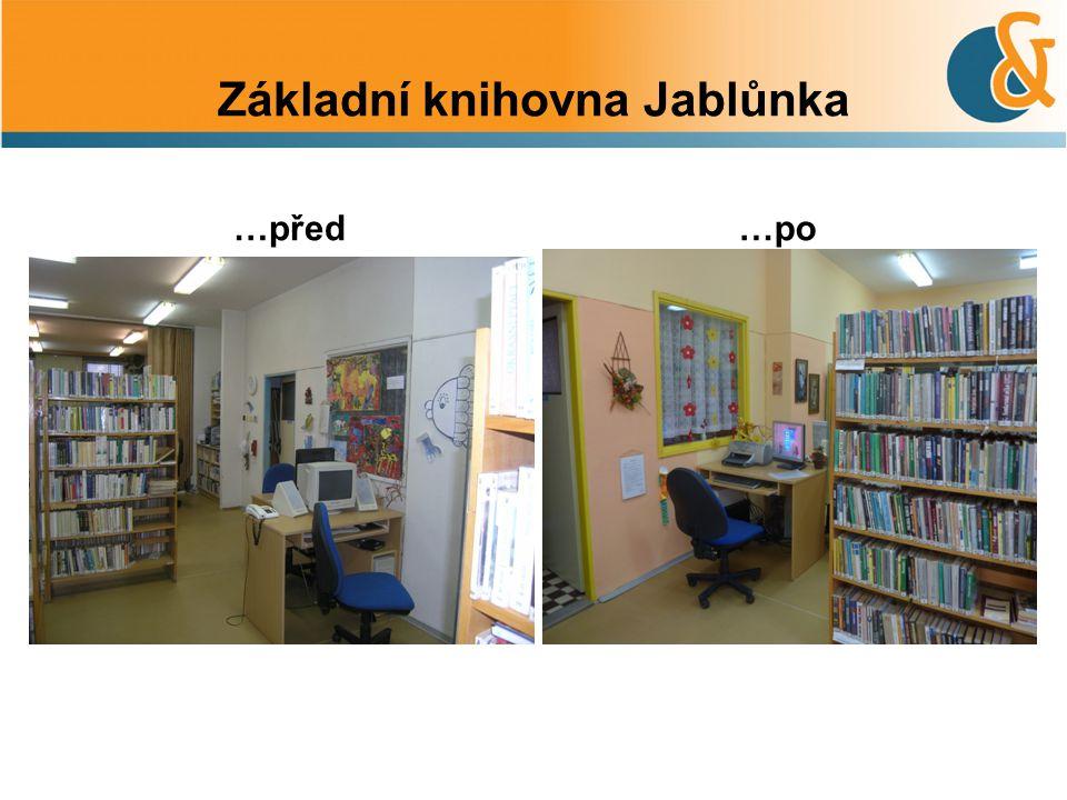 Základní knihovna Jablůnka …před…po