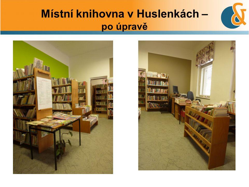 Místní knihovna v Huslenkách – po úpravě 