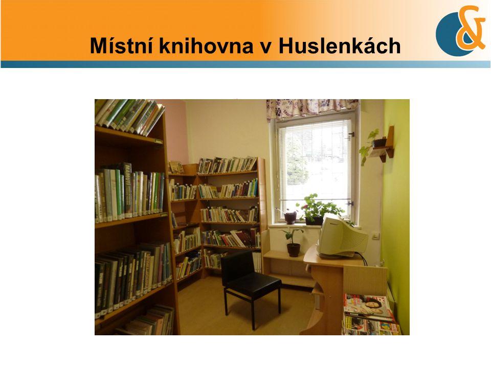 Místní knihovna v Huslenkách.