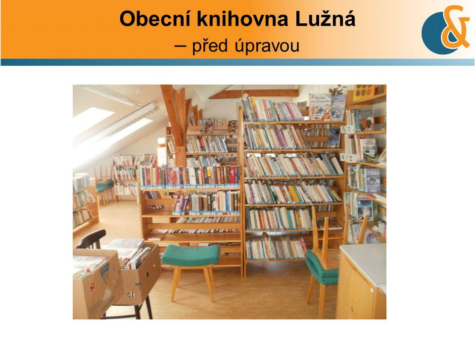 Obecní knihovna Lužná – před úpravou