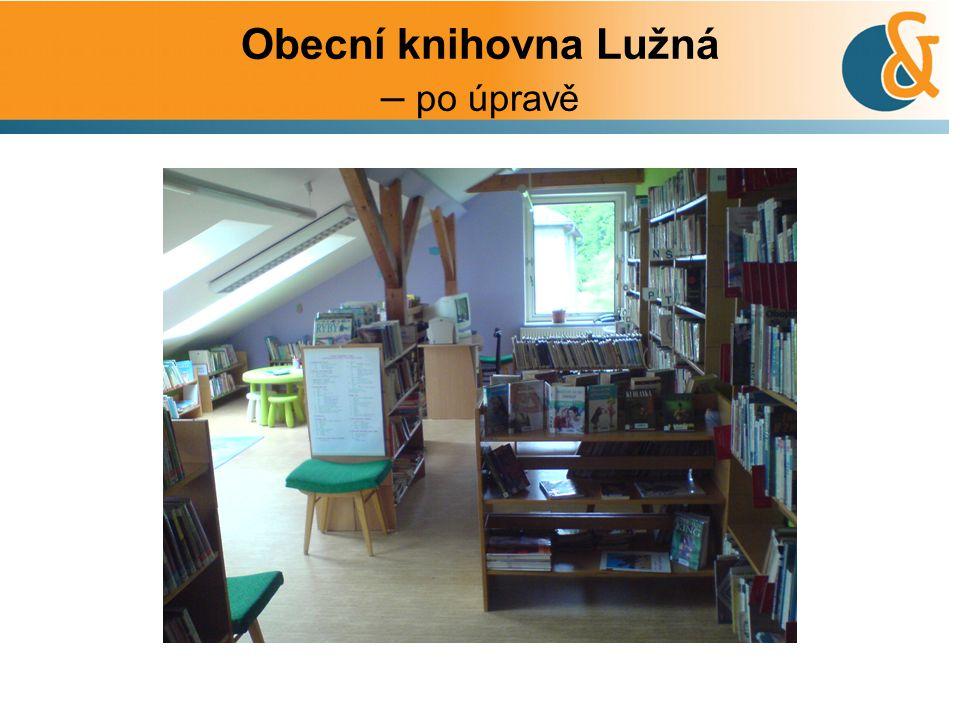 Obecní knihovna Lužná – po úpravě