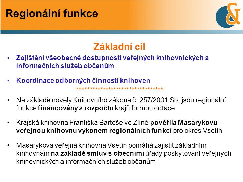 Základní cíl Zajištění všeobecné dostupnosti veřejných knihovnických a informačních služeb občanům Koordinace odborných činností knihoven ************