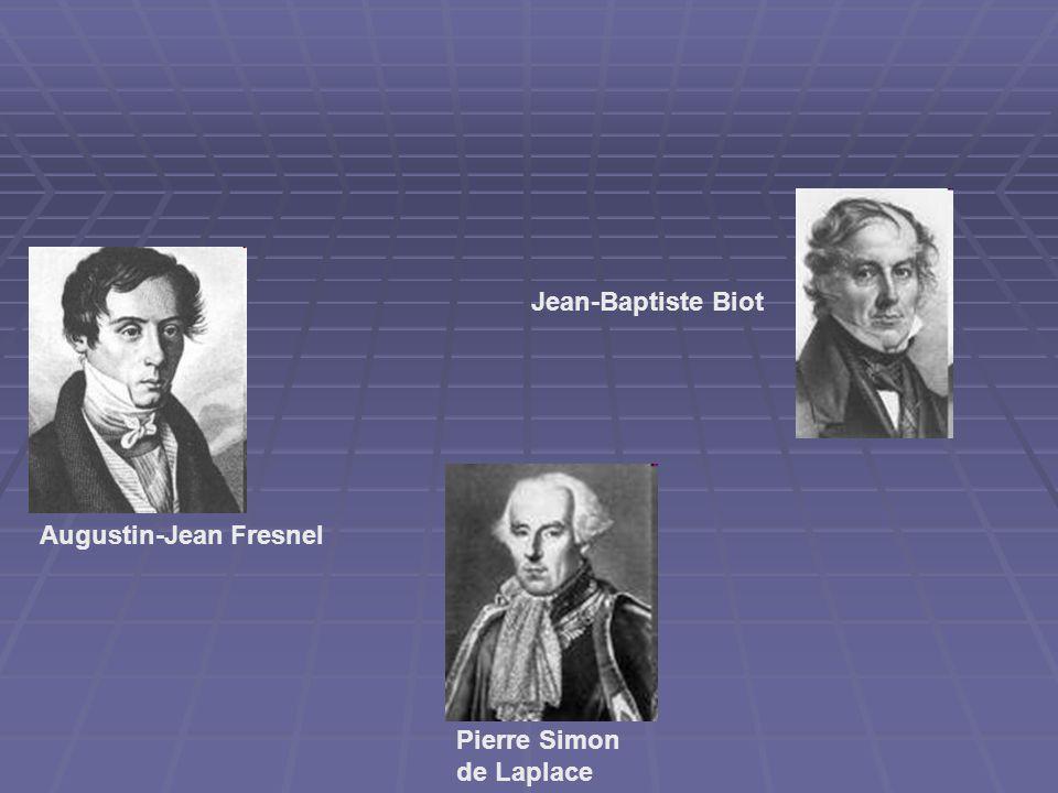 Pierre Simon de Laplace Jean-Baptiste Biot Augustin-Jean Fresnel