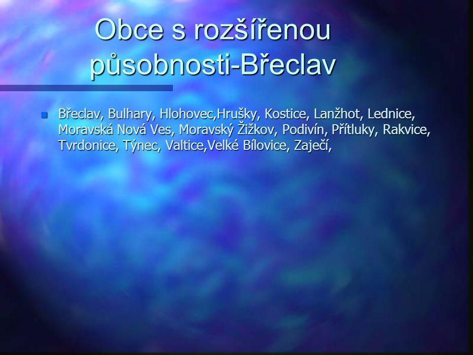 Obce s rozšířenou působnosti-Boskovice n Bedřichov, Benešov, Borotín, Boskovice, Cetkovice, Crhov, Černovice, Deštná, Drnovice, Hodonín, Horní Poříčí,