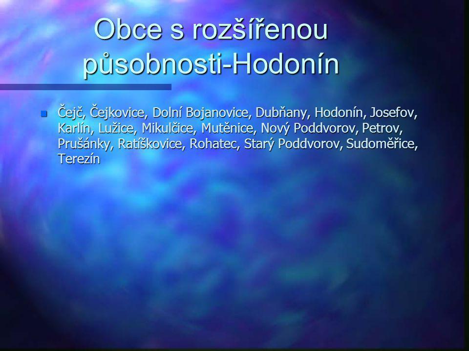 Obce s rozšířenou působnosti-Bučovice n Bohaté Málkovice, Brankovice, Bučovice, Dobročkovice, Dražovice, Chvalkovice, Kojátky, Kožušice, Křižanovice,