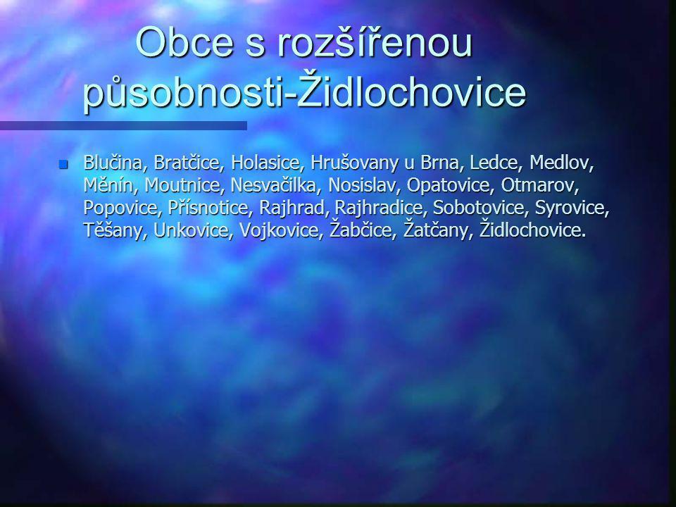 Obce s rozšířenou působnosti-Znojmo n Litobratřice, Lubnice, Lukov, Mackovice, Mašovice, Medlice, Mikulovice, Milíčovice, Morašice, Němčičky, Nový Šal