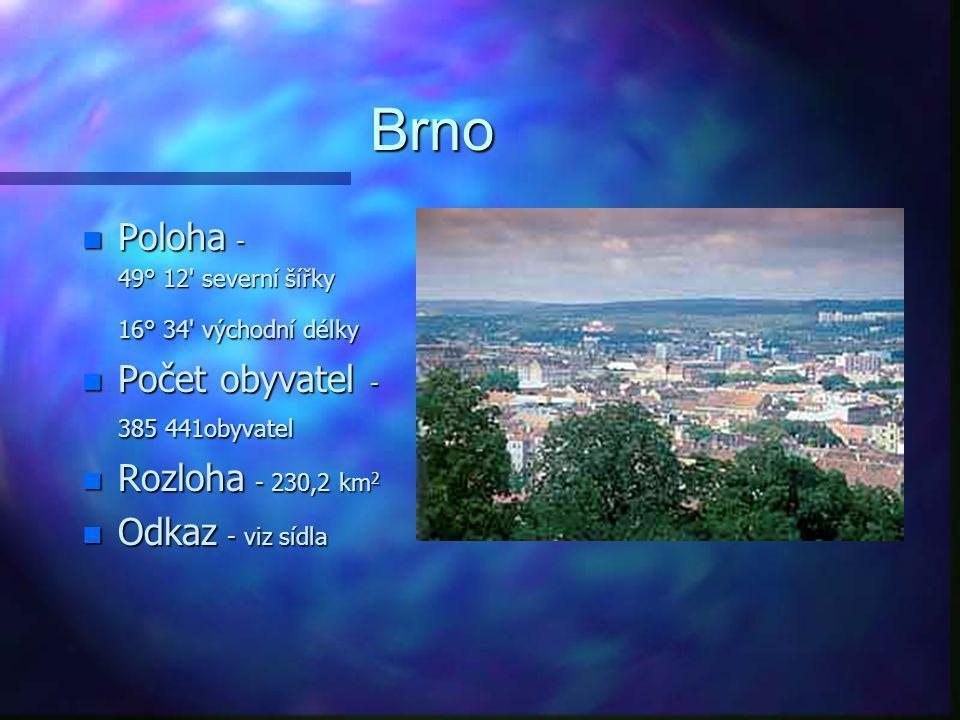 Rozloha n Celková rozloha 7062,25 n Rozloha jednotlivých regionů Blansko - 941,7; Brno-město - 230,2; Brno-venkov - 1108,7; Břeclav - 1171,3; Hodonín