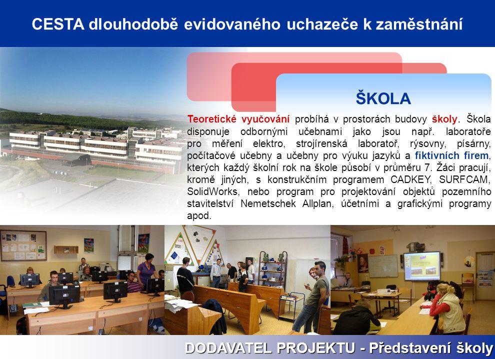 ŠKOLA Teoretické vyučování probíhá v prostorách budovy školy. Škola disponuje odbornými učebnami jako jsou např. laboratoře pro měření elektro, strojí