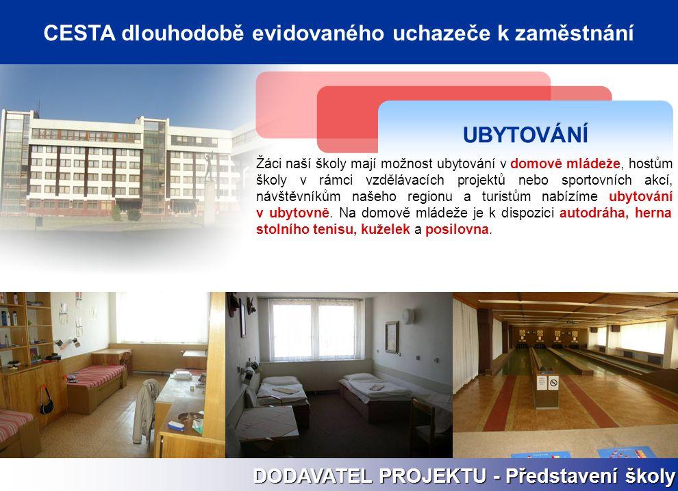 UBYTOVÁNÍ Žáci naší školy mají možnost ubytování v domově mládeže, hostům školy v rámci vzdělávacích projektů nebo sportovních akcí, návštěvníkům naše