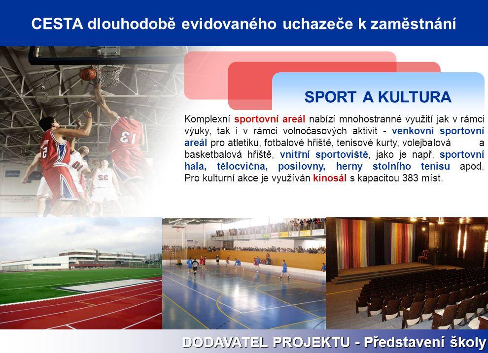 SPORT A KULTURA Komplexní sportovní areál nabízí mnohostranné využití jak v rámci výuky, tak i v rámci volnočasových aktivit - venkovní sportovní areá