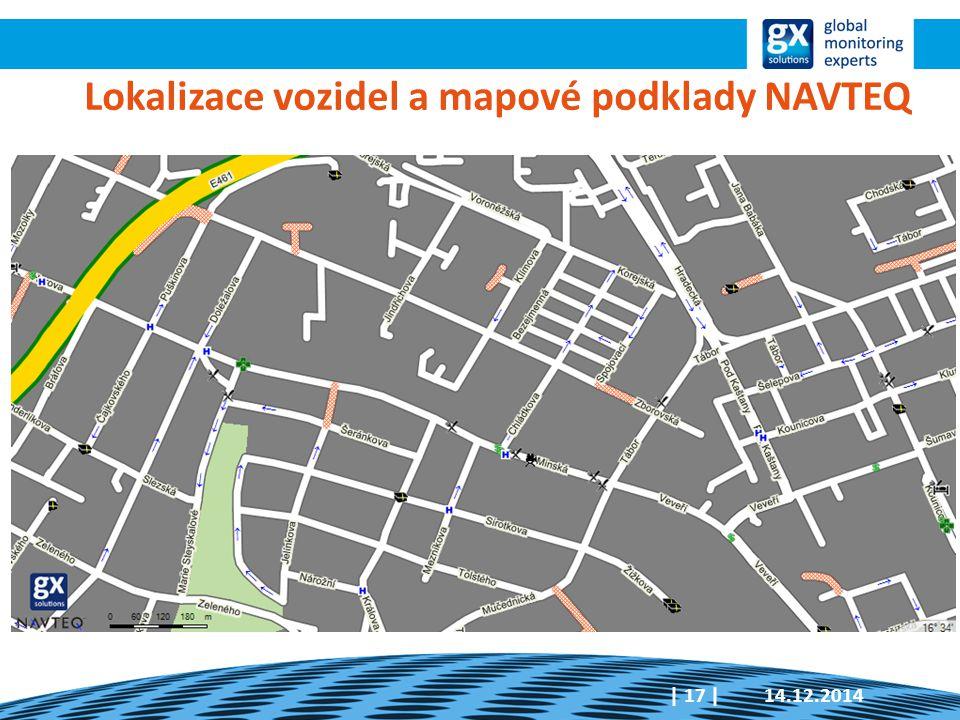 14.12.2014  17   Lokalizace vozidel a mapové podklady NAVTEQ