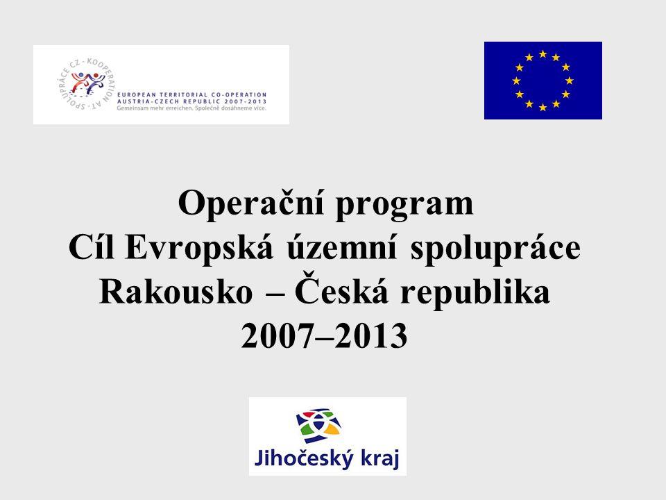 Operační program Cíl Evropská územní spolupráce Rakousko – Česká republika 2007–2013