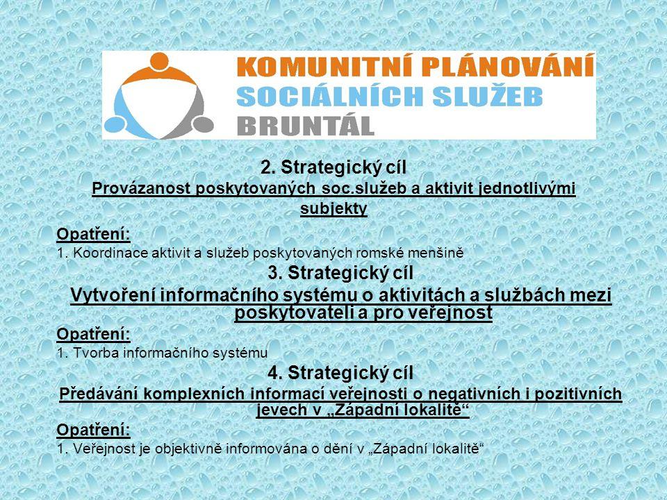 2. Strategický cíl Provázanost poskytovaných soc.služeb a aktivit jednotlivými subjekty Opatření: 1. Koordinace aktivit a služeb poskytovaných romské