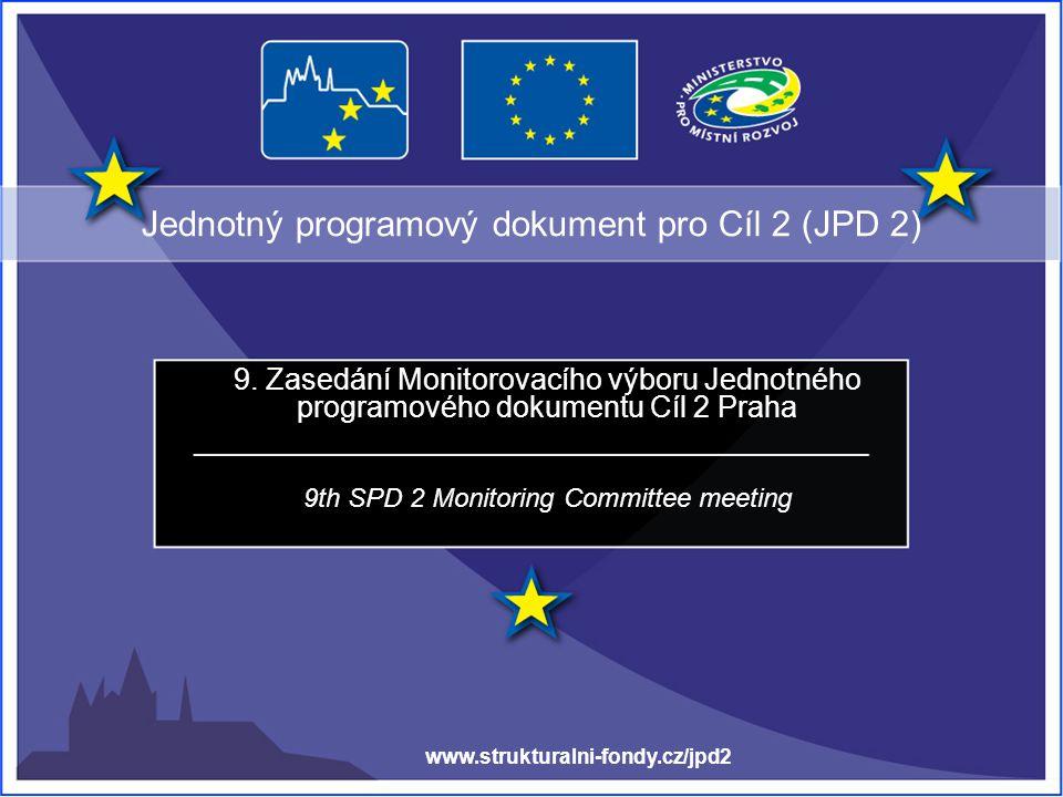 Jednotný programový dokument pro Cíl 2 (JPD 2) 9.
