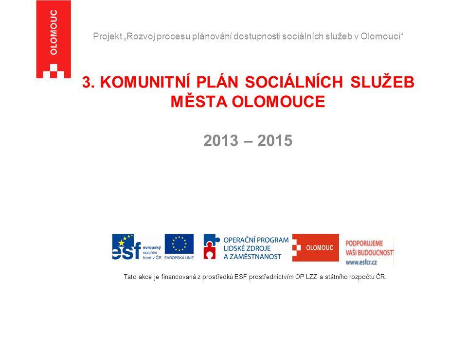"""Projekt """"Rozvoj procesu plánování dostupnosti sociálních služeb v Olomouci 3."""