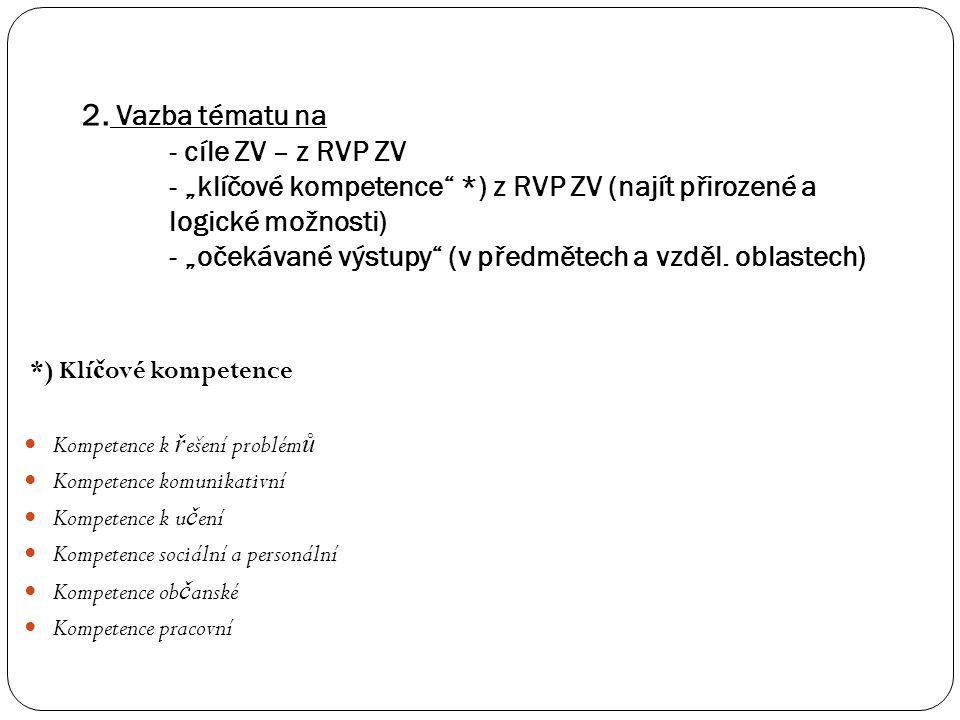 Analýza mezipředmětových vztahů: m ě la by sm ěř ovat k integraci vzd ě lávacích obsah ů : 1.