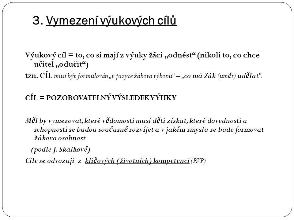 """2. Vazba tématu na - cíle ZV – z RVP ZV - """"klíčové kompetence"""" *) z RVP ZV (najít přirozené a logické možnosti) - """"očekávané výstupy"""" (v předmětech a"""