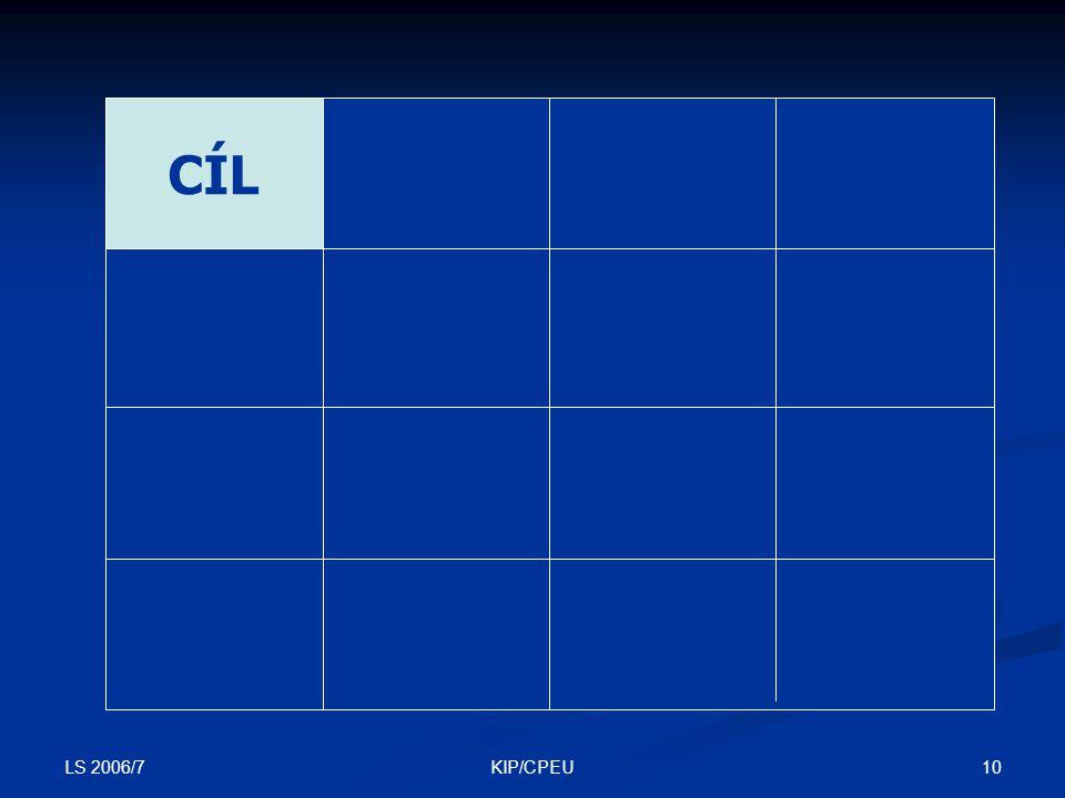 LS 2006/7 10KIP/CPEU CÍL