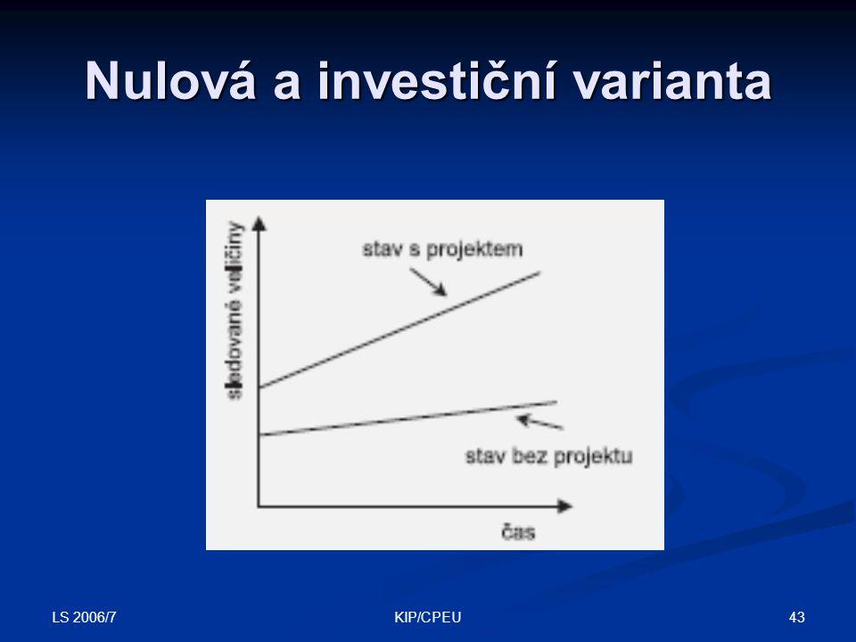 LS 2006/7 43KIP/CPEU Nulová a investiční varianta