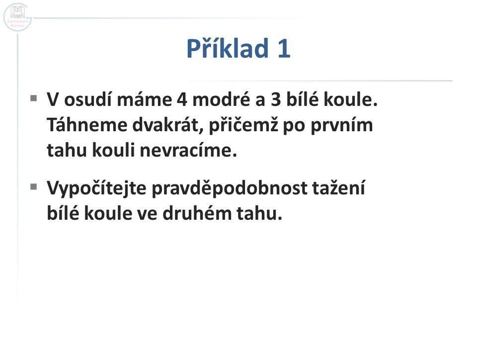 Příklad 4  a) žádný nezasáhne cíl:  P(a) = 0,4.