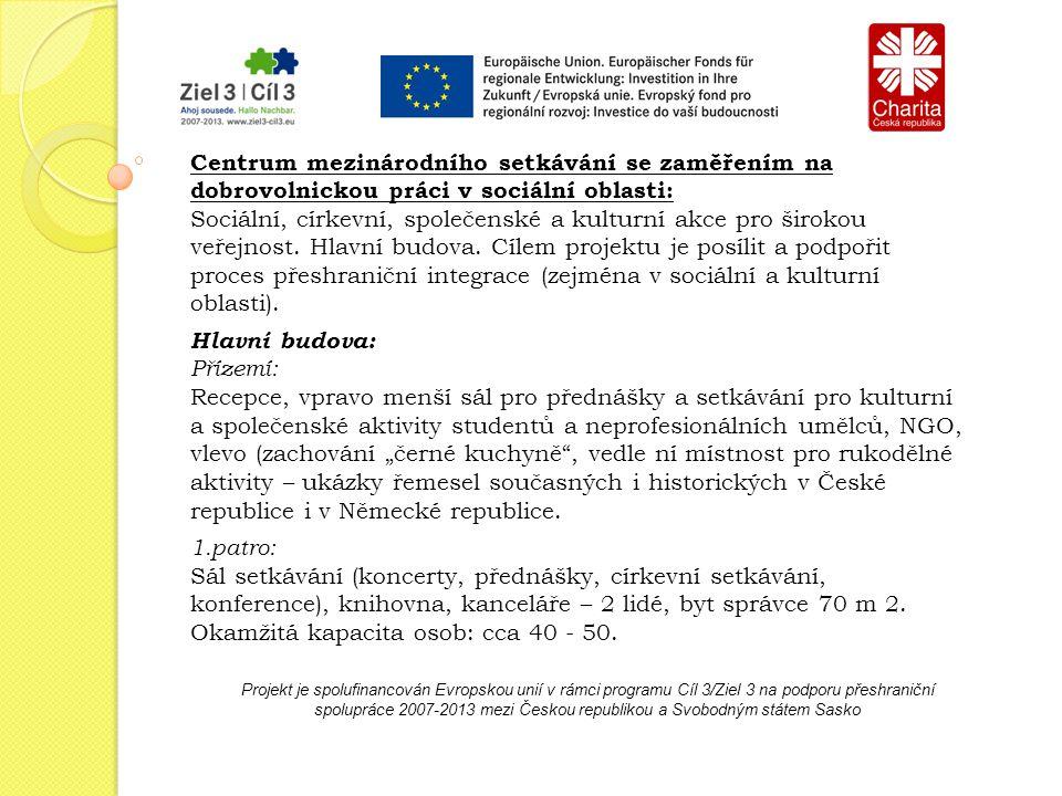 Projekt je spolufinancován Evropskou unií v rámci programu Cíl 3/Ziel 3 na podporu přeshraniční spolupráce 2007-2013 mezi Českou republikou a Svobodným státem Sasko Realizace a koordinace přeshraničních projektů Projekt: Přeshraniční řemeslná dílna Hlavním obsahem setkání českých a německých studentů bude vytvoření společné dílny, v níž se mohou studenti setkávat a společně tvořit.